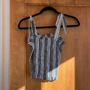 Smocked and cropped ribbon tube top: professional